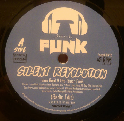 LEON BEAL & THE TOUCH FUNK - SILENT REVOLUTION (FUNK) Mint Condition