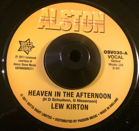 LEW KIRTON - HEAVEN IN THE AFTERNOON (OUTTA SIGHT) Mint Condition