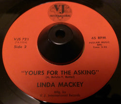 LINDA MACKEY - YOURS FOR THE ASKING (VJ INTERNATIONAL) Ex Condition