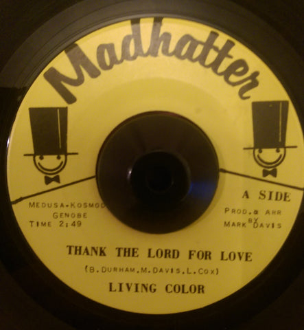 LIVING COLOR - THANK THE LORD FOR LOVE (HADHATTER) Vg+ Condition