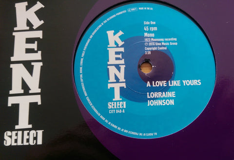 LORRAINE JOHNSON b/w DEEP VELVET (KENT CITY 048) Mint Condition