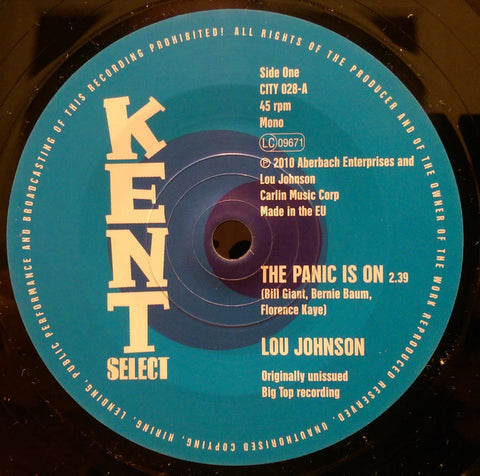 LOU JOHNSON - THE PANIC IS ON (KENT CITY) Mint Condition