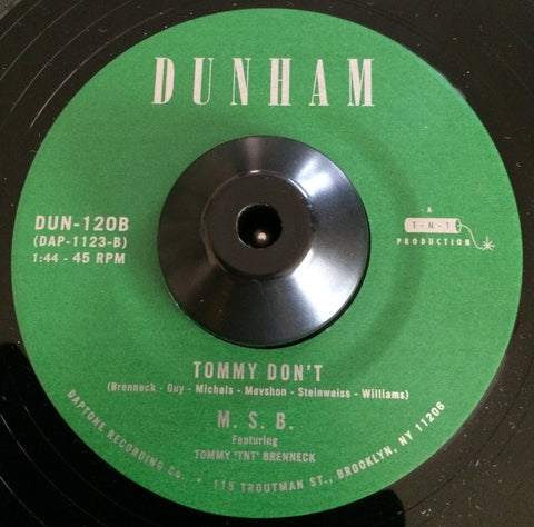 M.S.B - TOMMY DON'T (DUNHAM) Mint Condition