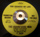MAGNIFICENT MEN - YOU CHANGED MY LIFE (CAPITOL PROMO) Vg Conditions