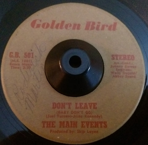 THE MAIN EVENT - DON'T LEAVE (GOLDEN BIRD) Vg Condition