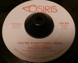 MAJOR LANCE - YOU'RE EVERYTHING I NEED (OSIRIS) Ex Condition