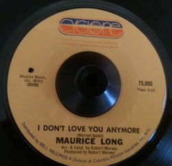 MAURICE LONG - I DON'T LOVE YOU NO MORE (CYCLONE) Ex Condition