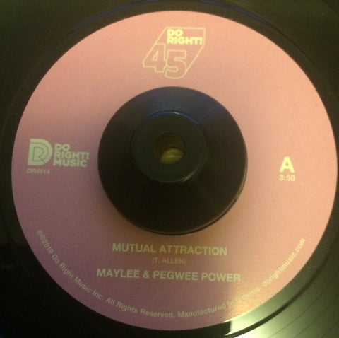 MAYLEE & PEGWEE POWER - MUTUAL ATTRACTION (DO RIGHT MUSIC) Mint Condition