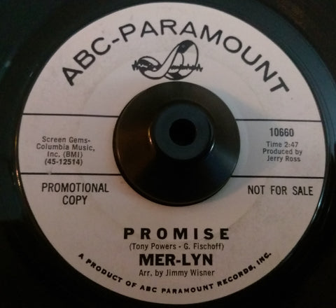 MER-LYN - PROMISE (ABC W/Demo) Vg+ Condition