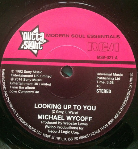 MICHAEL WYCOFF - LOOKING UP TO YOU (OUTTA SIGHT) Mint Condition