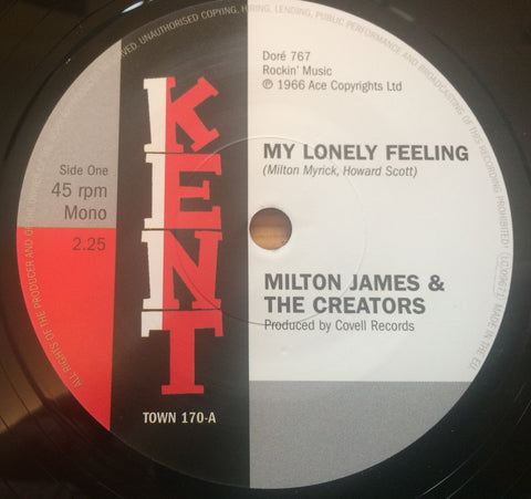 MILTON JAMES - MY LONELY FEELING (KENT TOWN) Mint Condition