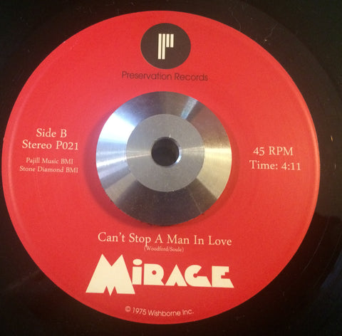 MIRAGE - CAN'T STOP A MAN IN LOVE (PRESERVATION RECORDS) Mint Condition