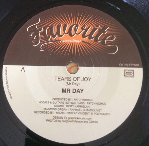MR DAY - TEARS OF JOY (FAVORITE) Mint Condition + Picture Sleeve