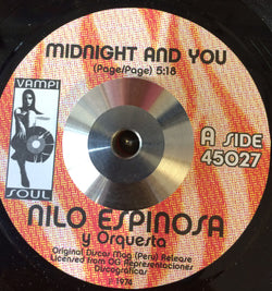 NILO ESPINOSA - MIDNIGHT AND YOU (VAMPISOUL) Mint Condition.