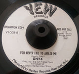 ONYX - YOU NEVER FAIL TO AMAZE ME (YEW Promo) Ex Condition