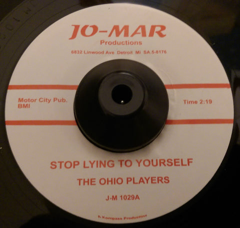 OHIO PLAYERS - STOP LYING TO YOURSELF (JO-MAR) Mint Condition