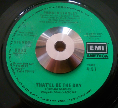 PAMELA STANLEY - THAT WILL BE THE DAY (EMI AMERICA) Ex Condition