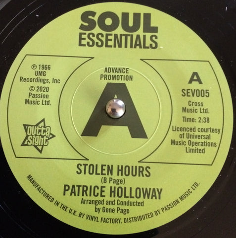 PATRICE HOLLOWAY - STOLEN HOURS (SOUL ESSENTIALS DEMO) Mint Condition