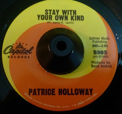 PATRICE HOLLOWAY - STAY WITH YOUR OWN KIND (CAPITOL) Ex Condition