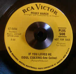PEGGY MARCH - IF YOU LOVE ME (RCA DEMO) Ex Condition