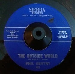 PHIL GENTRY - OUTSIDE WORLD (SIERRA) Vg+ Condition