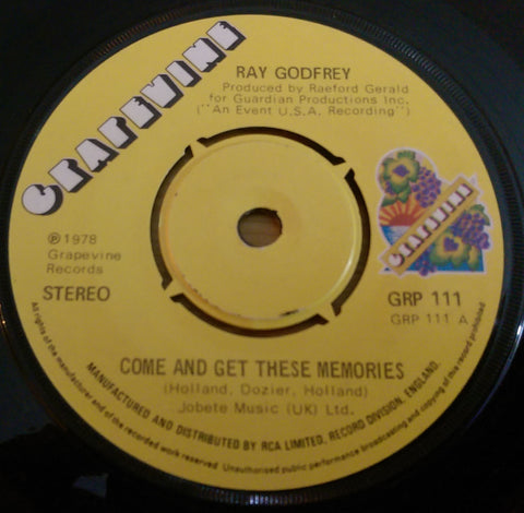 RAY GODFREY - COME AND GET THESE MEMORIES (GRAPEVINE) Vg+ Condition