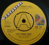 RONNIE LOVE - LETS MAKE LOVE (GRAPEVINE Promo) Vg+ Condition