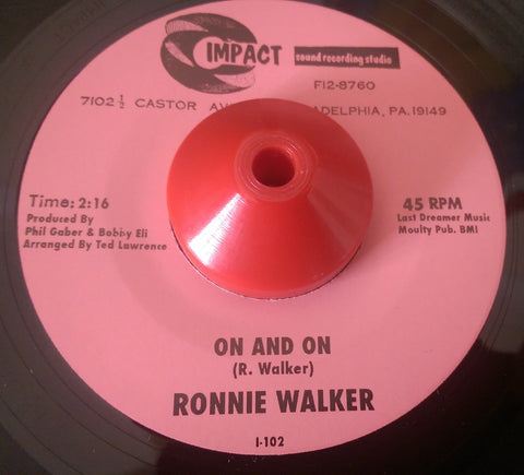 RONNIE WALKER - ON AND ON (IMPACT) Mint Condition