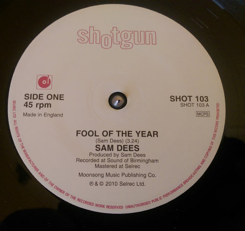 SAM DEES - FOOL OF THE YEAR (SHOTGUN) Mint Condition