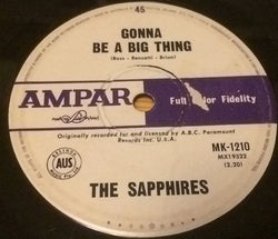 SAPPHIRES - IT'S GONNA BE A BIG THING (AMPAR) Vg+ Condition