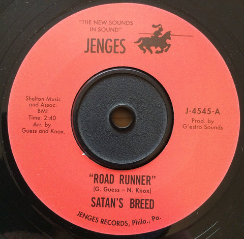 SATAN'S BREED - ROAD RUNNER (JENGES RE) Mint Condition