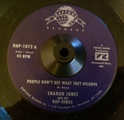 SHARON JONES - PEOPLE DON'T GET WHAT THEY DESERVE (DAPTONE) Mint Condition