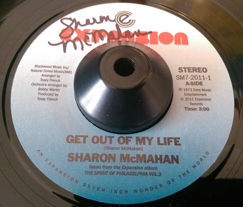 SHARON McMAHAN - GET OUT OF MY LIFE (EXPANSION) Ex Condition (Signed Copy)
