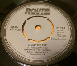 SHELIA ANTHONY - LIVIN' IN LOVE (ROUTE) Ex Condition