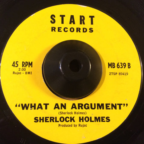 SHERLOCK HOLMES - WHAT AN ARGUMENT (START) Ex Condition