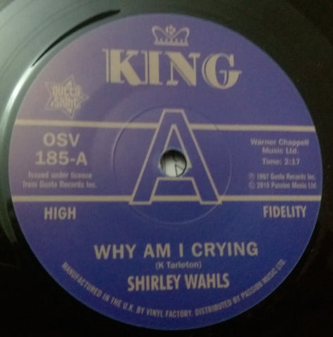 SHIRLEY WAHLS - WHY AM I CRYING (OUTTA SIGHT DEMO) MInt Condition