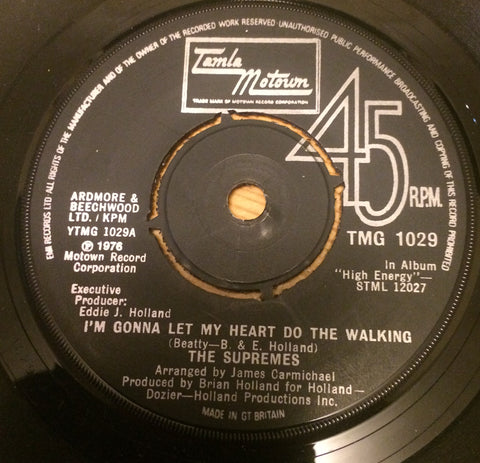 SUPREMES - I'M GONNA LET MY HEART DO THE WALKING (TAMLA MOTOWN) Ex Condition