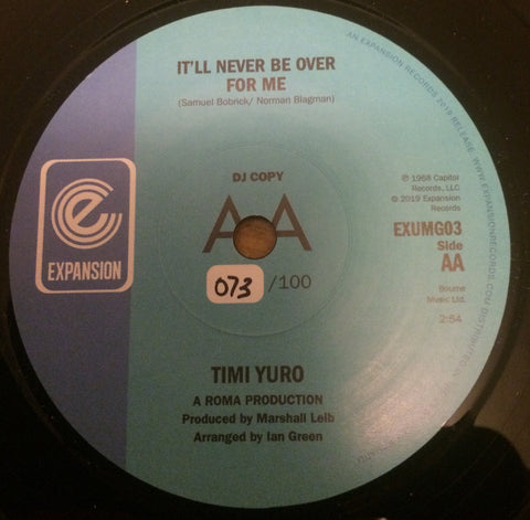 TIMI YURO - IT'LL NEVER BE OVER FOR ME (EXPANSION DEMO 073/100) Mint Condition