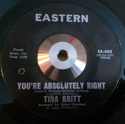TINA BRITT - ABSOLUTELY RIGHT (EASTERN) Ex Condition