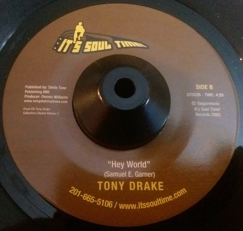 TONY DRAKE - LIVING IN THE FOOTSTEPS OF ANOTHER MAN (IT'S SOUL TIME) Mint Condition
