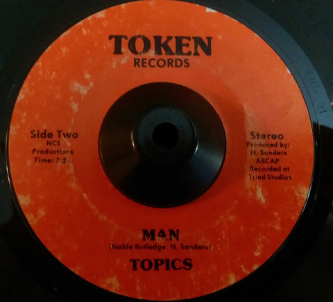TOPICS - MAN (TOKEN) Vg+ Condition