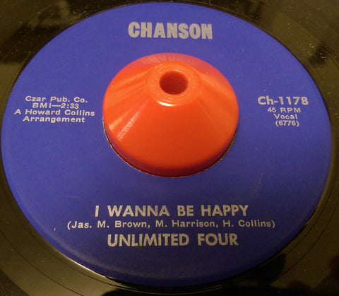 UNLIMITED FOUR - I WANNA BE HAPPY (CHANSON) Ex Condition
