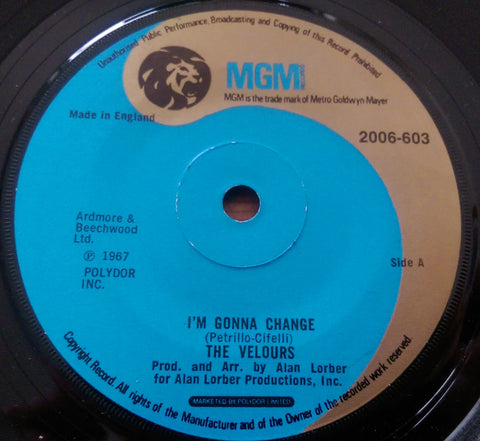 THE VELOURS - I'M GONNA CHANGE (MGM) Ex Condition