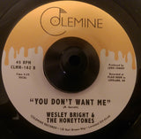 WESLEY BRIGHT & THE HONEYTONES - HAPPINESS (COLEMINE) Mint Condition