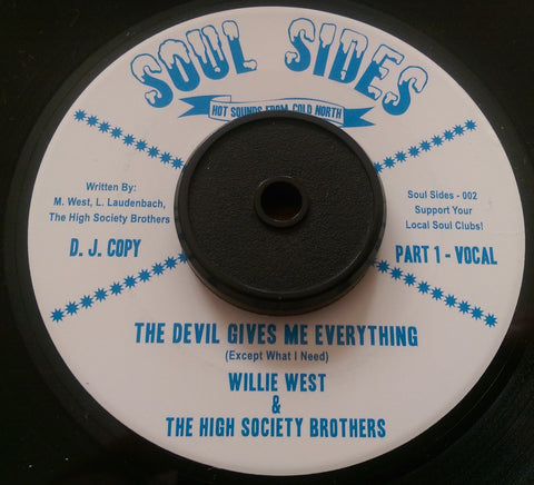 WILLIE WEST - THE DEVIL GIVES ME EVERYTHING (SOUL SIDES Demo) MInt Condition