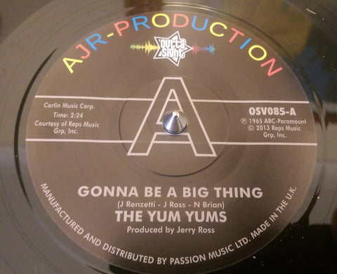 YUM YUMS - IT,S GONNA BE A BIG THING (OUTTA SIGHT DEMO) Mint Condition