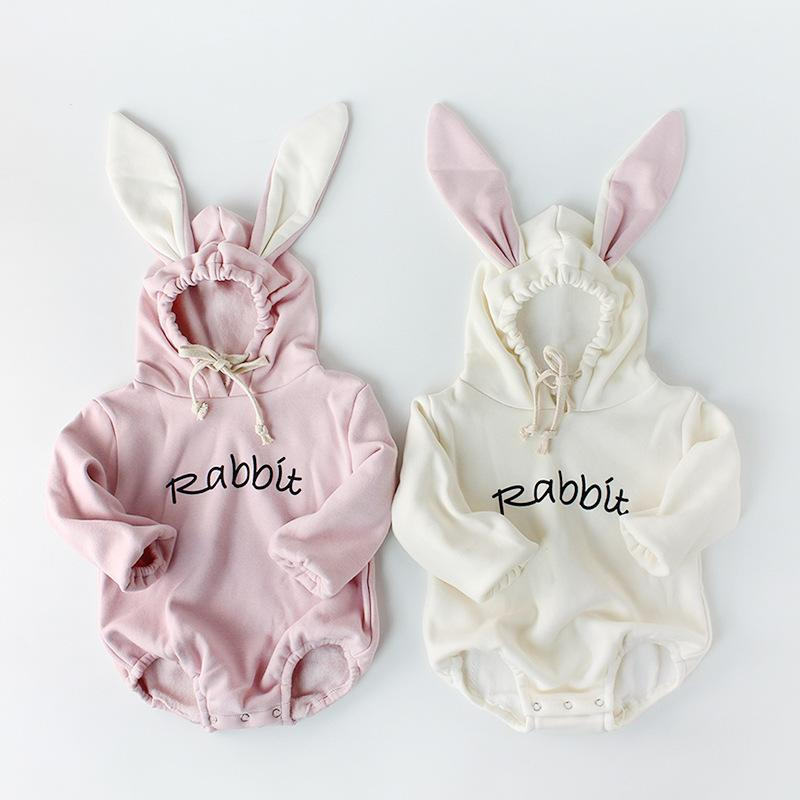 Baby Boys Girls Cartoon hoodie Jumpsuit Outfits