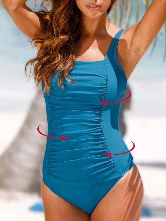 One Pieces Solid Color Swimwear