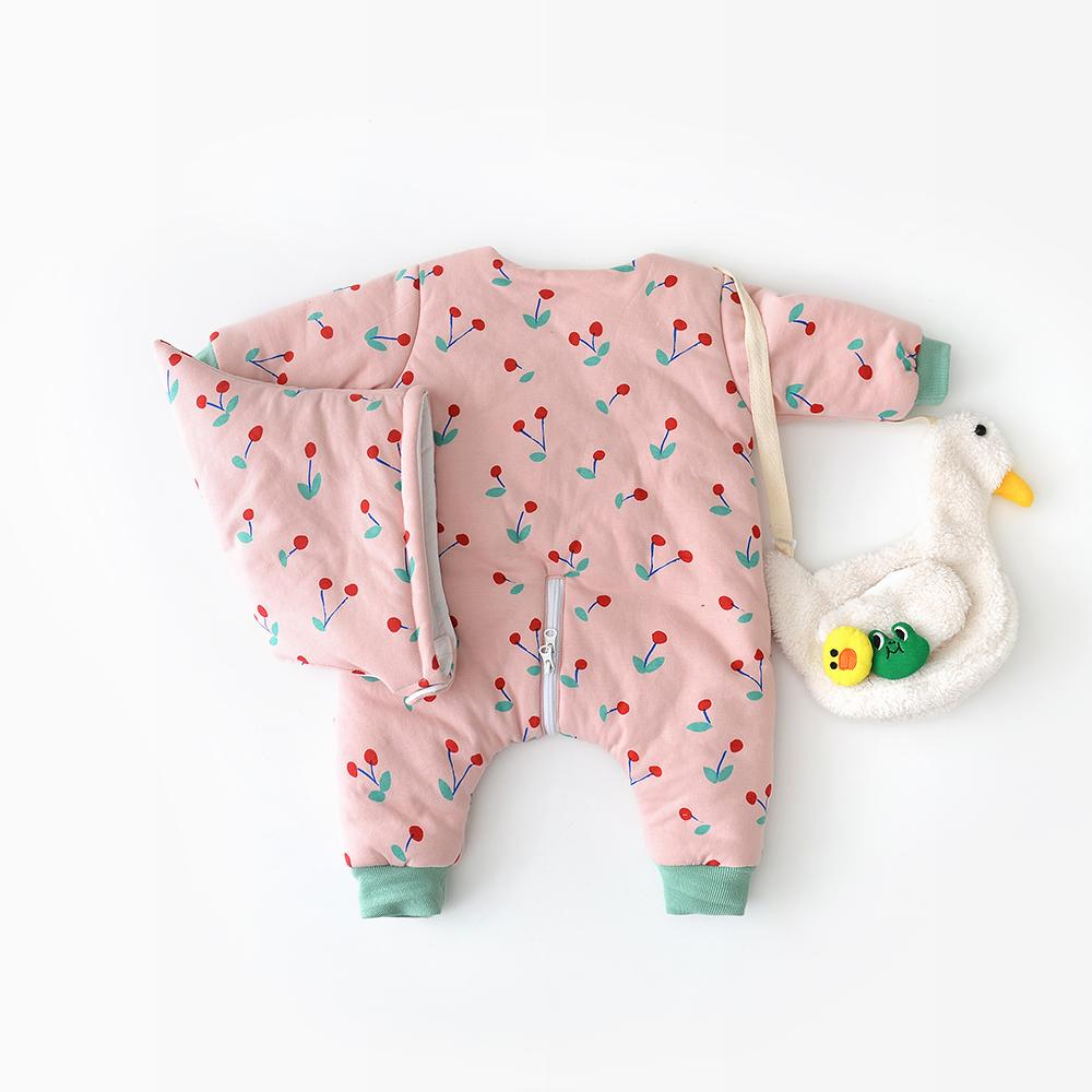 Baby Cotton Printed Bulldog&cloud Bodysuit