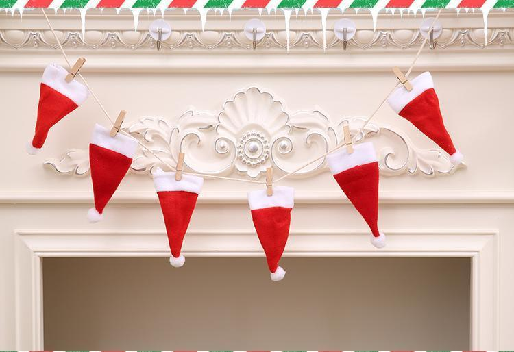 1M Length christmas hat pull sign banner christmas tree decoration